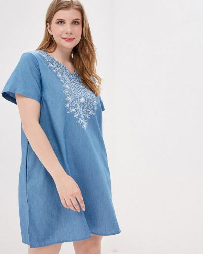 Платье - голубое Milanika