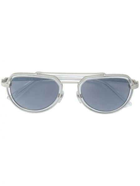 Прямые желтые солнцезащитные очки металлические Diesel
