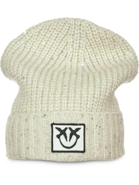 Prążkowana czapka wełniana Pinko