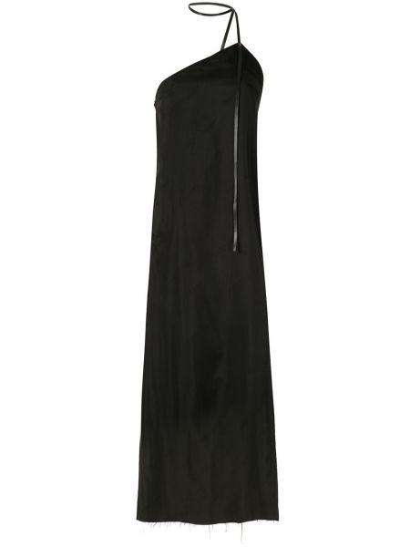 Черное платье без рукавов из вискозы Yang Li