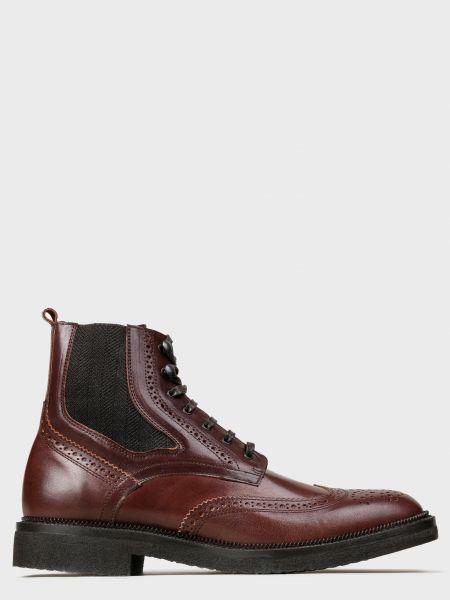 Кожаные ботинки - коричневые Corneliani