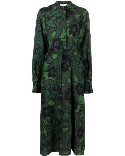 Платье макси с длинными рукавами - зеленое Christian Wijnants