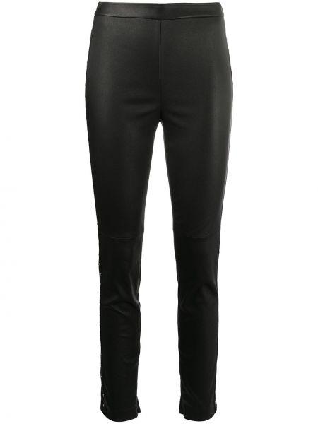Черные кожаные леггинсы эластичные Givenchy