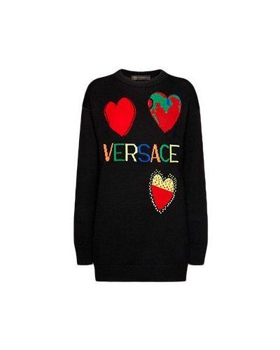 Пуловер черный Versace