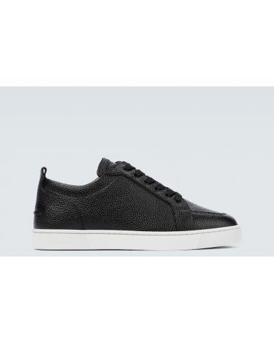 Klasyczne czarne sneakersy skorzane Christian Louboutin