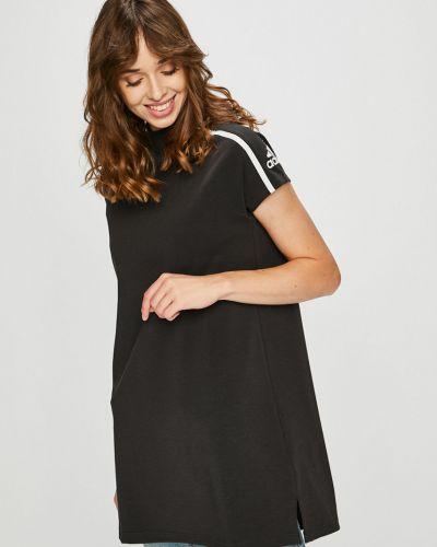 Трикотажное платье мини - черное Adidas Performance