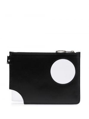 Черная кожаная сумка на молнии Off-white