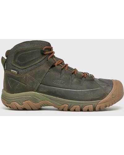 Кожаные ботинки треккинговые на шнуровке Keen