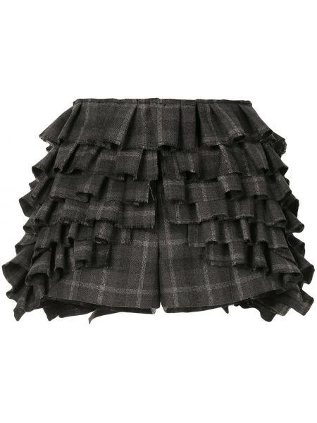 С заниженной талией шерстяные серые шорты Vera Wang