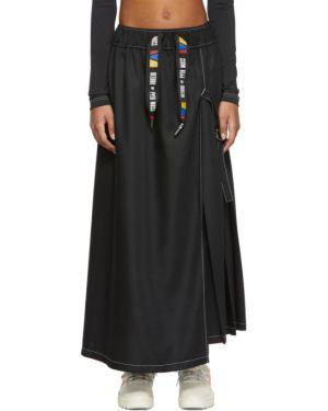 С кулиской черная плиссированная юбка на резинке с рисунком Reebok By Pyer Moss
