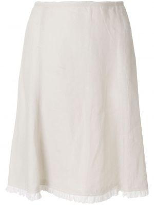Льняная юбка миди винтажная в рубчик Prada Pre-owned