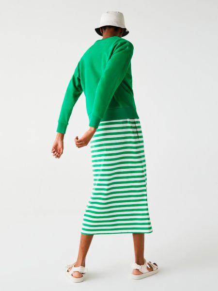 Зеленая кофта с воротником Lacoste