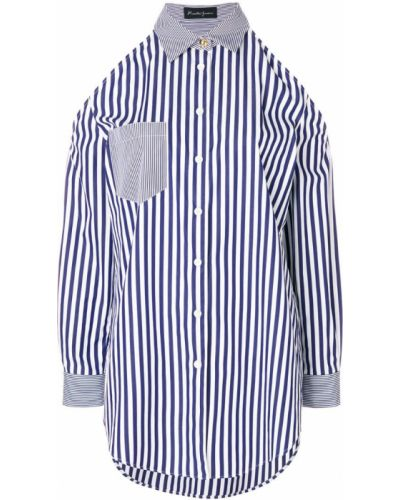 Рубашка с длинным рукавом в полоску с карманами Rossella Jardini