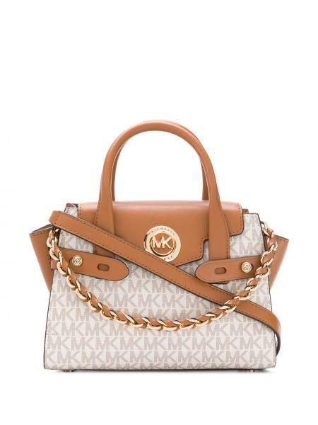 Кожаная сумка круглая сумка-тоут Michael Michael Kors