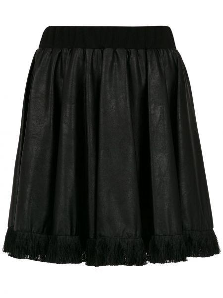 Юбка черная с бахромой à La Garçonne