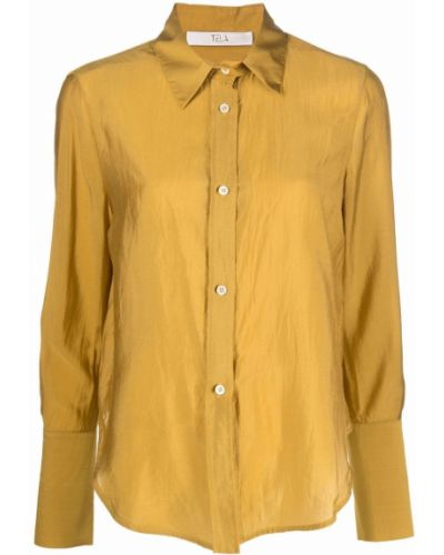 Шелковая рубашка - желтая Tela