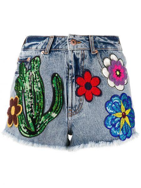 Классические джинсовые шорты со стразами с карманами на пуговицах Filles A Papa