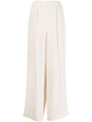 Spodnie z wysokim stanem sztruksowe - białe Enfold