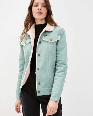 Джинсовая куртка осенняя бирюзовый Dasti
