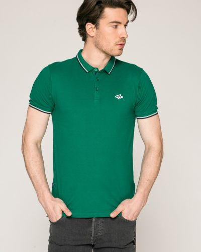 Зеленая футболка однотонная Le Shark