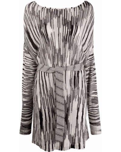 Платье макси длинное - серое Missoni