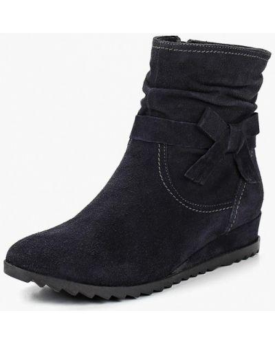 Ботинки на каблуке осенние высокие замшевые Tamaris