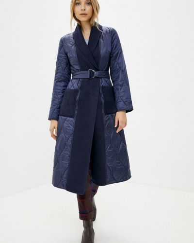 Теплая синяя куртка снежная королева