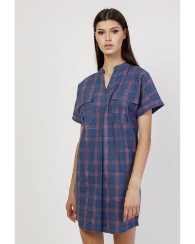 Синее платье с принтом Dasti