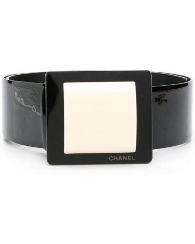 Ремень черный винтажный Chanel Vintage