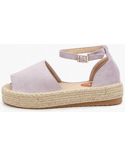 Текстильные фиолетовые сандалии Go-go