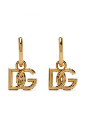 Złote kolczyki Dolce And Gabbana