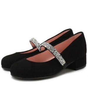 Туфли бархатный на каблуке Pretty Ballerinas