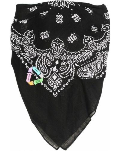Czarna bandana bawełniana z printem Natasha Zinko