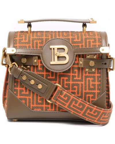Кожаная сумка - оранжевая Balmain