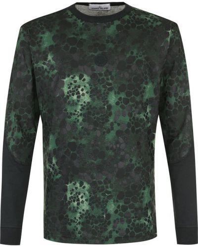 Зеленый свитер камуфляжный Stone Island