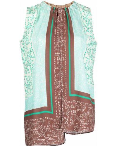 Bluzka asymetryczna - zielona Alysi