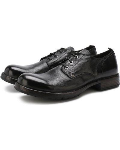 Черные кожаные туфли Moma