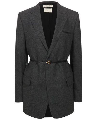 Шерстяной пиджак - серый Bottega Veneta