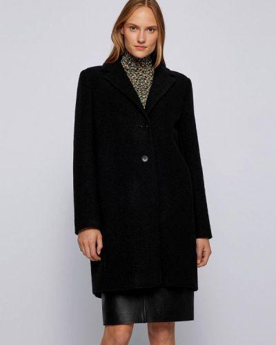 Черное зимнее пальто Boss