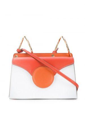 Кожаная сумка через плечо - оранжевая Danse Lente