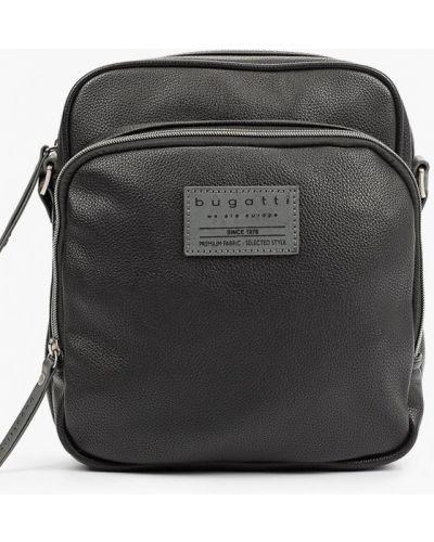 Кожаная сумка через плечо - черная Bugatti
