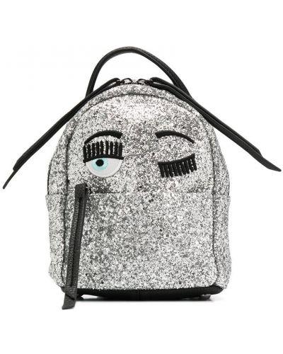 Серебряный рюкзак Chiara Ferragni Kids