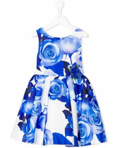 Платье с рукавами на торжество плиссированное David Charles Kids
