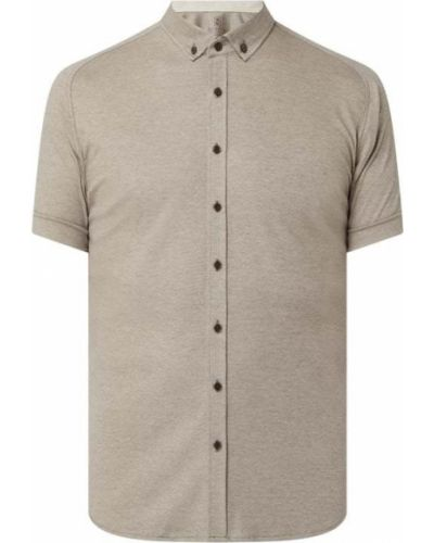 Pomarańczowa koszula krótki rękaw bawełniana Desoto