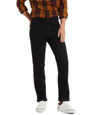 Czarne jeansy eleganckie bawełniane Wrangler