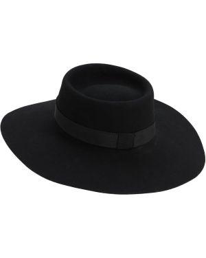 Czarny kapelusz wełniany ácheval Pampa