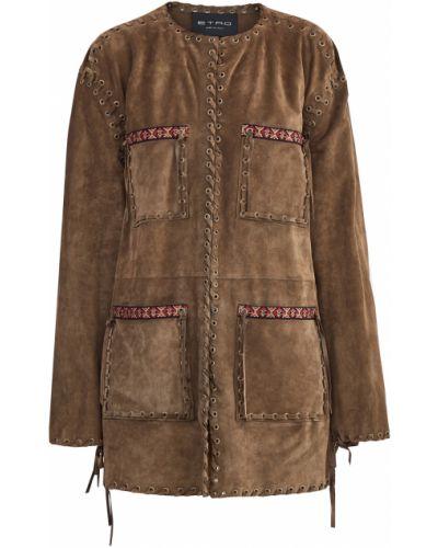 Куртка замшевая с карманами Etro