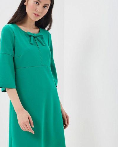 Зеленое платье льняное Rinascimento