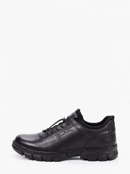 Кожаные черные кроссовки Pierre Cardin