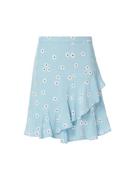 Niebieska spódnica rozkloszowana z falbanami Catwalk Junkie